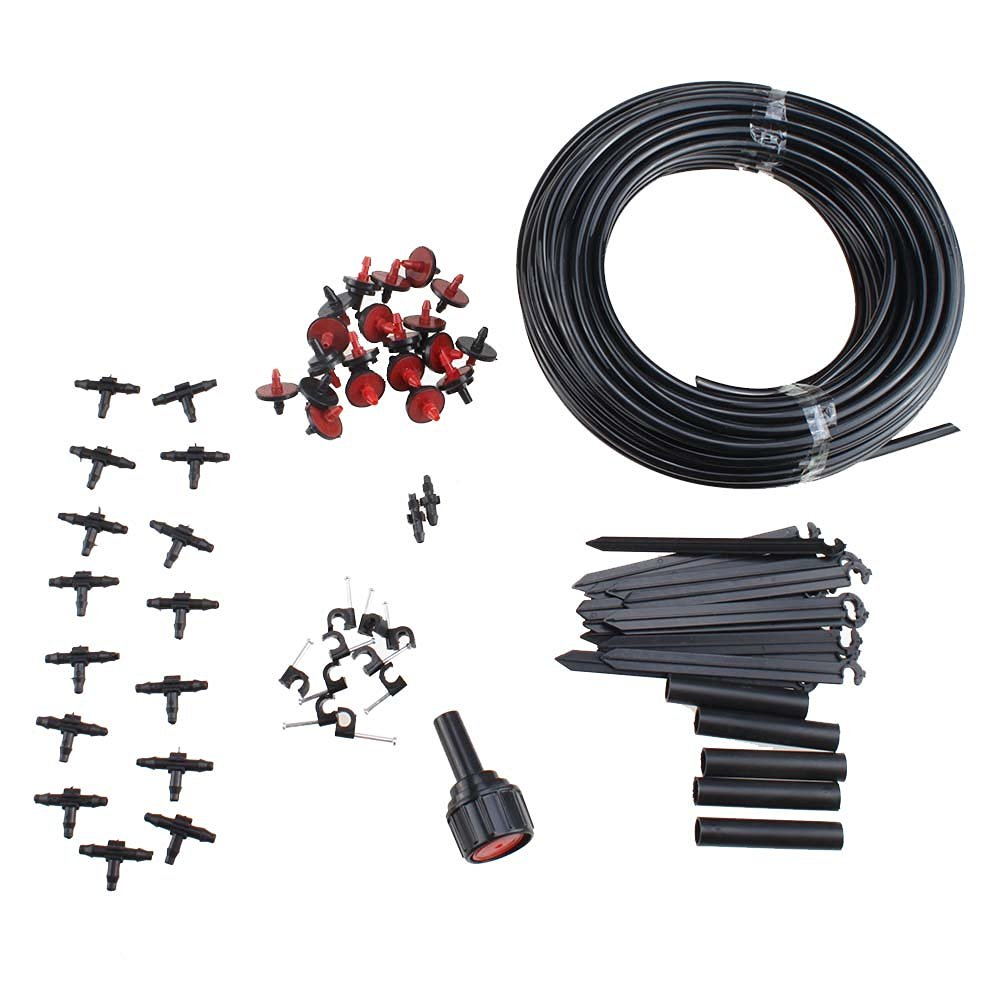 AGPtek 23M Adjustable Micro Drip Irrigation System, Hose Sprinkler Drippers Garden Kit for Plants Watering