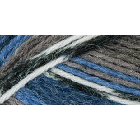 Mary Maxim Natural Alpaca Tweed Yarn-Denim Stripe - image 1 de 1