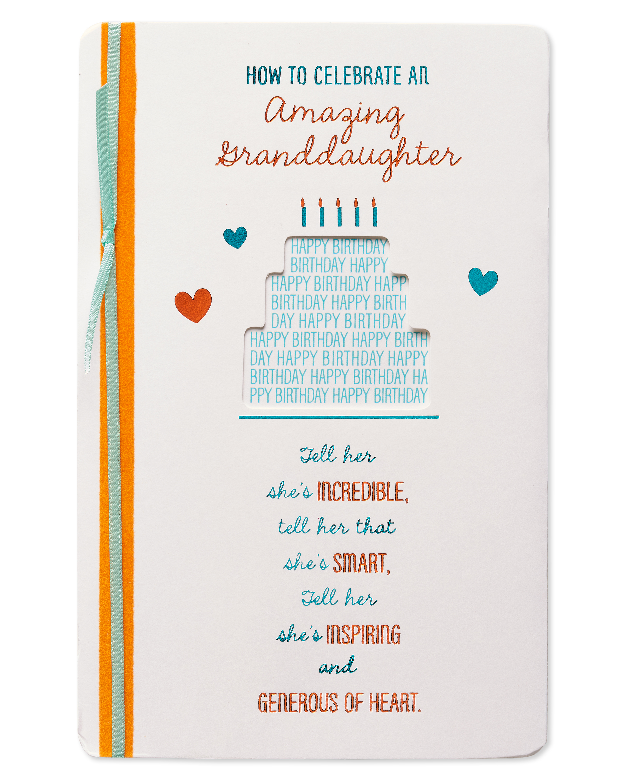 American Greetings Generous Birthday Card For Granddaughter With Foil Walmart Com Walmart Com