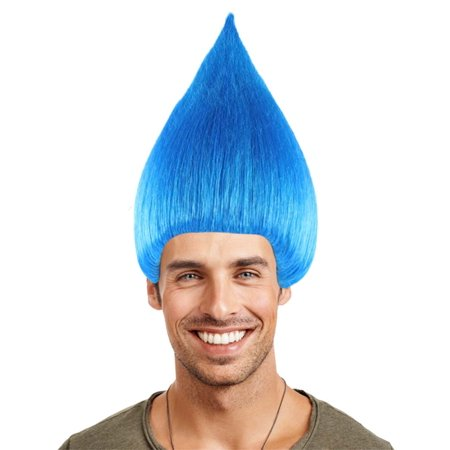 Party City Blue Wig (Troll Wig, Blue HM-075)
