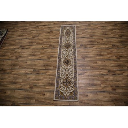 Rugsource Hand Tufted Nain Oriental Traditional Clical 12 Ft Long Runner Rug Beige