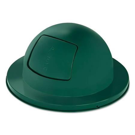 Towne Series Dome Top Waste Receptacle Lids, 21u0022 dia, Green, Steel