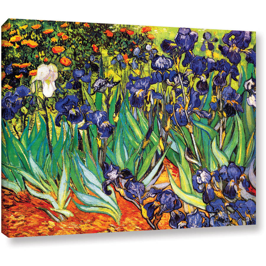 "ArtWall Vincent van Gogh ""Irises in the Garden"" Wrapped Canvas Art"