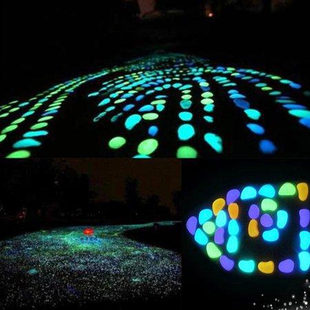 Garden Pebbles Glow Stones Rocks for Walkways Garden PathLightBlue30pcs - image 8 de 10