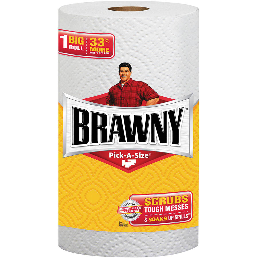 Brawny Pick-A-Size Perforated Paper Towels, 6 rolls