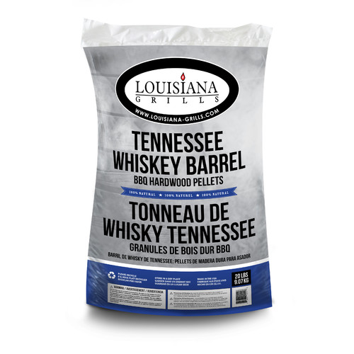 Louisiana Grills All Natural Hardwood Pellets, Tennessee Whiskey Barrel, 20 lbs
