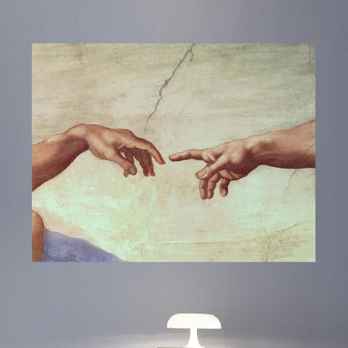 Wallhogs Michelangelo Hands of God and Adam (1511) Poster Wall Mural