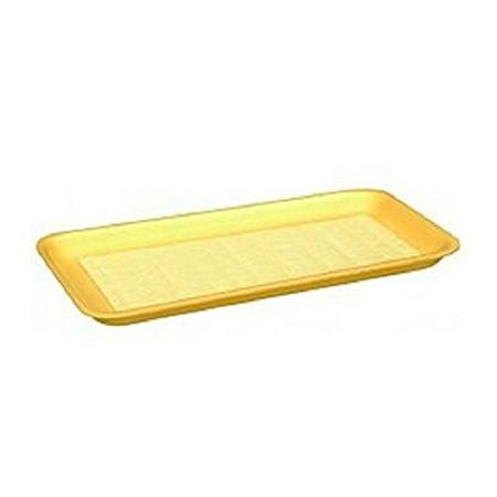 Yellow Foam Meat Tray - CKF 17SY, #17S Yellow Foam Meat Trays, Disposable Standard Supermarket Meat Poultry Frozen Food Trays, 100-Piece Bundle