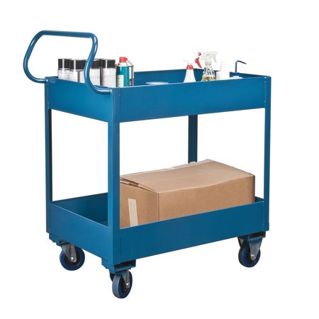 Kleton Deep Lipped Service Cart, 6-Inch Top Shelf Lip, 6-Inch Bottom Shelf Lip, 1200-lbs Capacity - image 2 of 2
