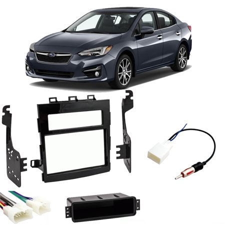 Subaru Impreza 2017-2019 Double DIN Stereo Harness Radio Install Dash Kit New (Subaru Stereo Kit)
