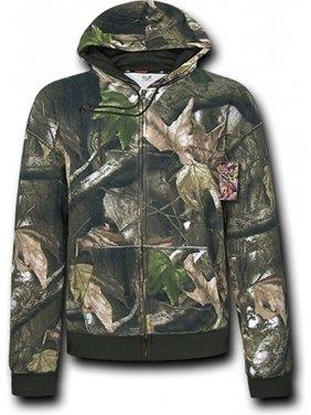787623687b2ae Product Image RapDom HYBRiCAM Full Zip-Up Mens Hoodie Jacket [Grey Bark Camo  - M]