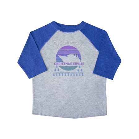 Faux Ugly Sweater Christmas Cruise Toddler T-Shirt