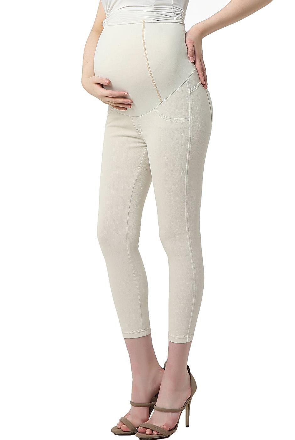 Maternity Women's Cropped Jeggings - Tan M