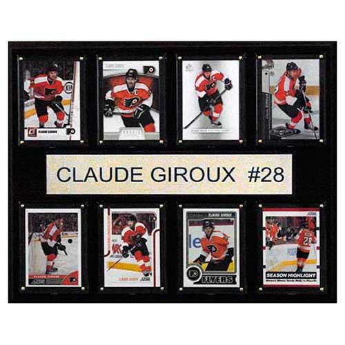 C and I Collectables NHL 15W x 12H in. Claude Giroux Philadelphia Flyers 8 Card Plaque