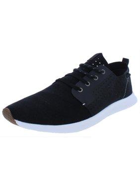 Steve Madden Mens Brick Suedette Casual Fashion Sneakers Black 12 Medium (D)