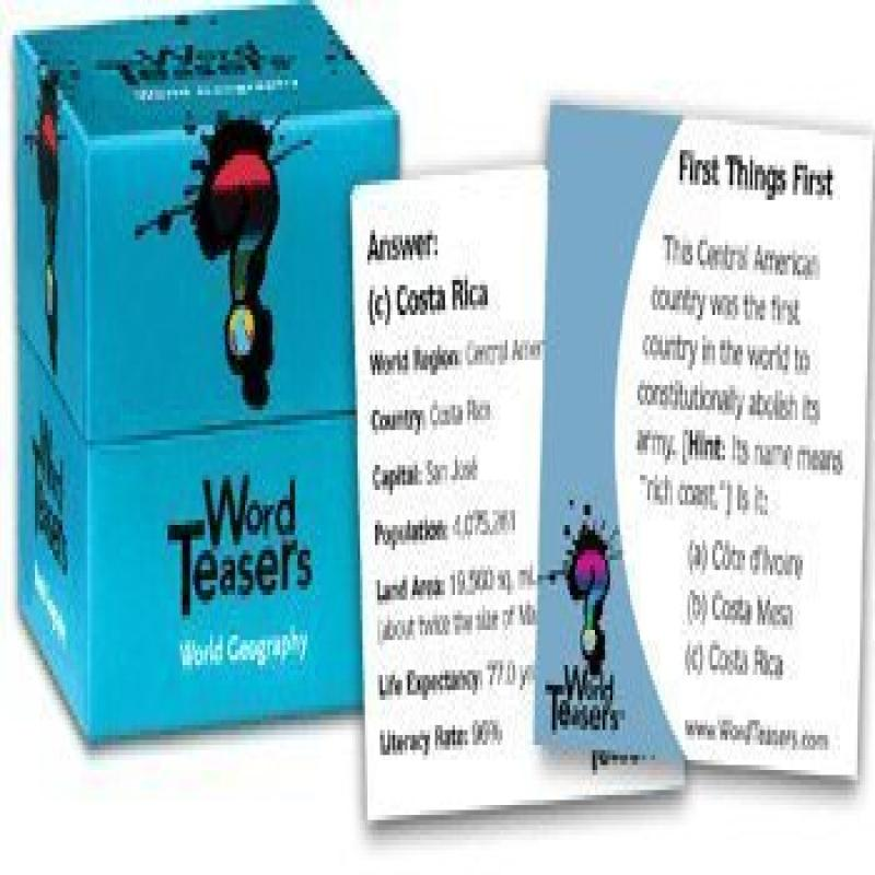 Word Teasers: World Geography W Culture Facts by