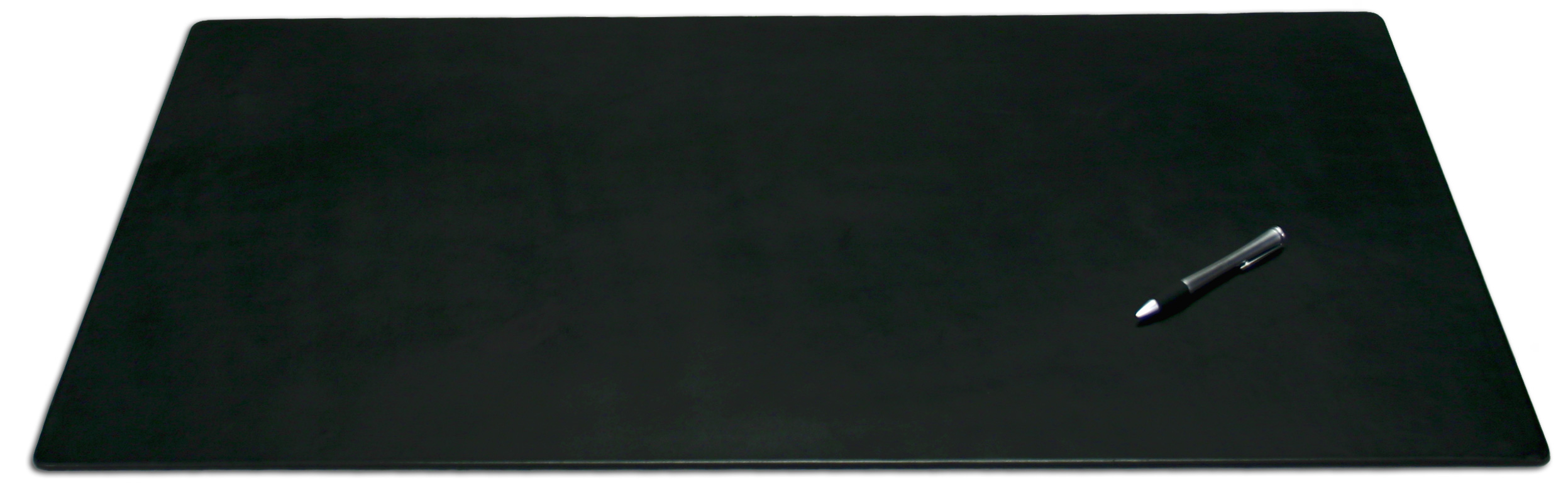 Black Leather X Desk Mat Without Rails Com