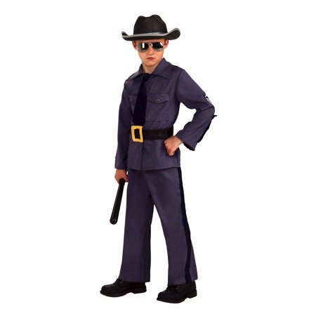 State Highway Patrol Trooper Policeman Police Man Occupation Child Boys Costume