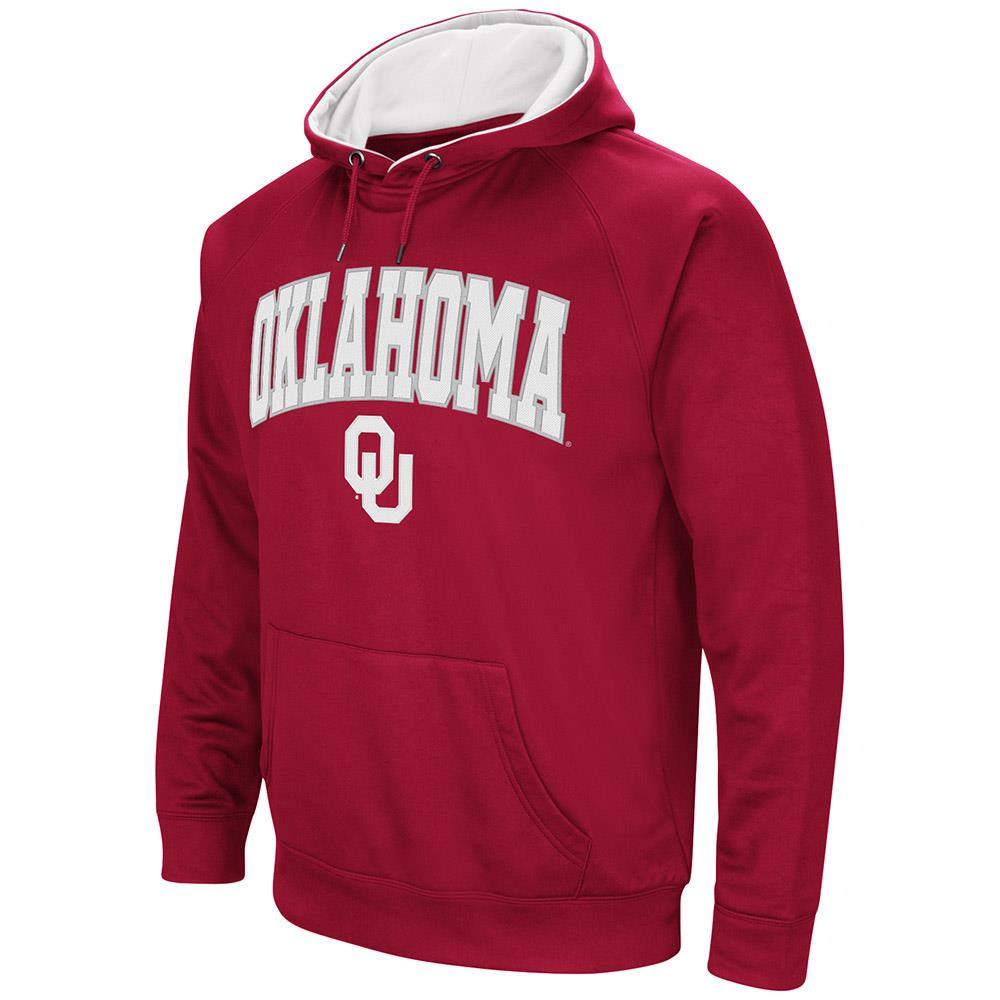 Mens Oklahoma Sooners Fleece Pull-over Hoodie by Colosseum