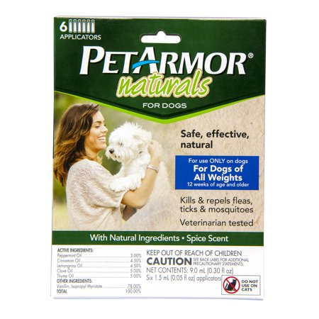 PetArmor Naturals Topical Flea & Tick Treatment for Dogs, 6 (Best Topical Flea Treatment)