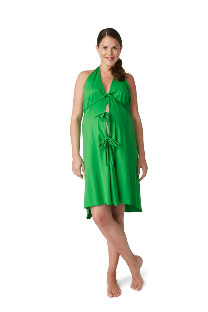 Pretty Pushers Cotton Jersey Labor Gown (Clover Green) - Walmart.com