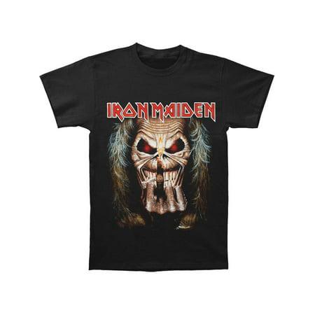 Iron Maiden Men's  Eddie Candle Finger T-shirt Black - Faire Maiden