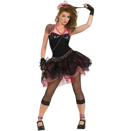 '80s Diva Adult Halloween Costume (80s Pop Culture Halloween Costumes)