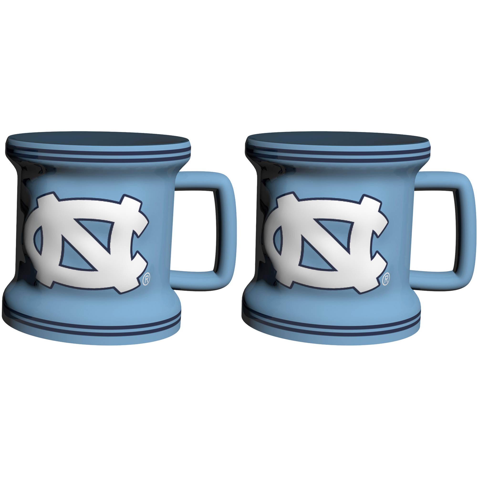 NCAA North Carolina Tarheels 2-Pack Sculpted Mini Mug