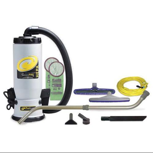Proteam 6 qt., 864 High/612 LowW, QuietPro Backpack Vacuum Cleaner, 107146