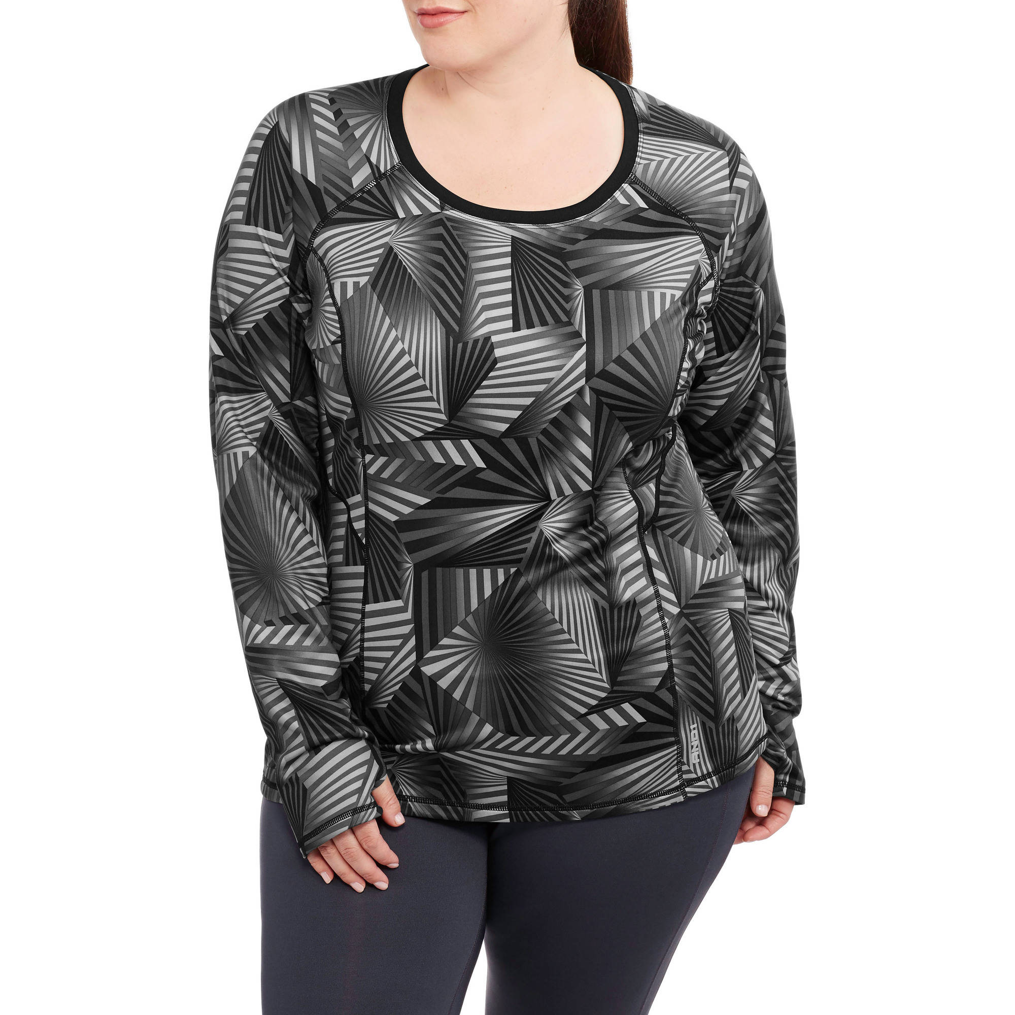 Women's Plus-Size Triumph Long Sleeve Performance Top Printed