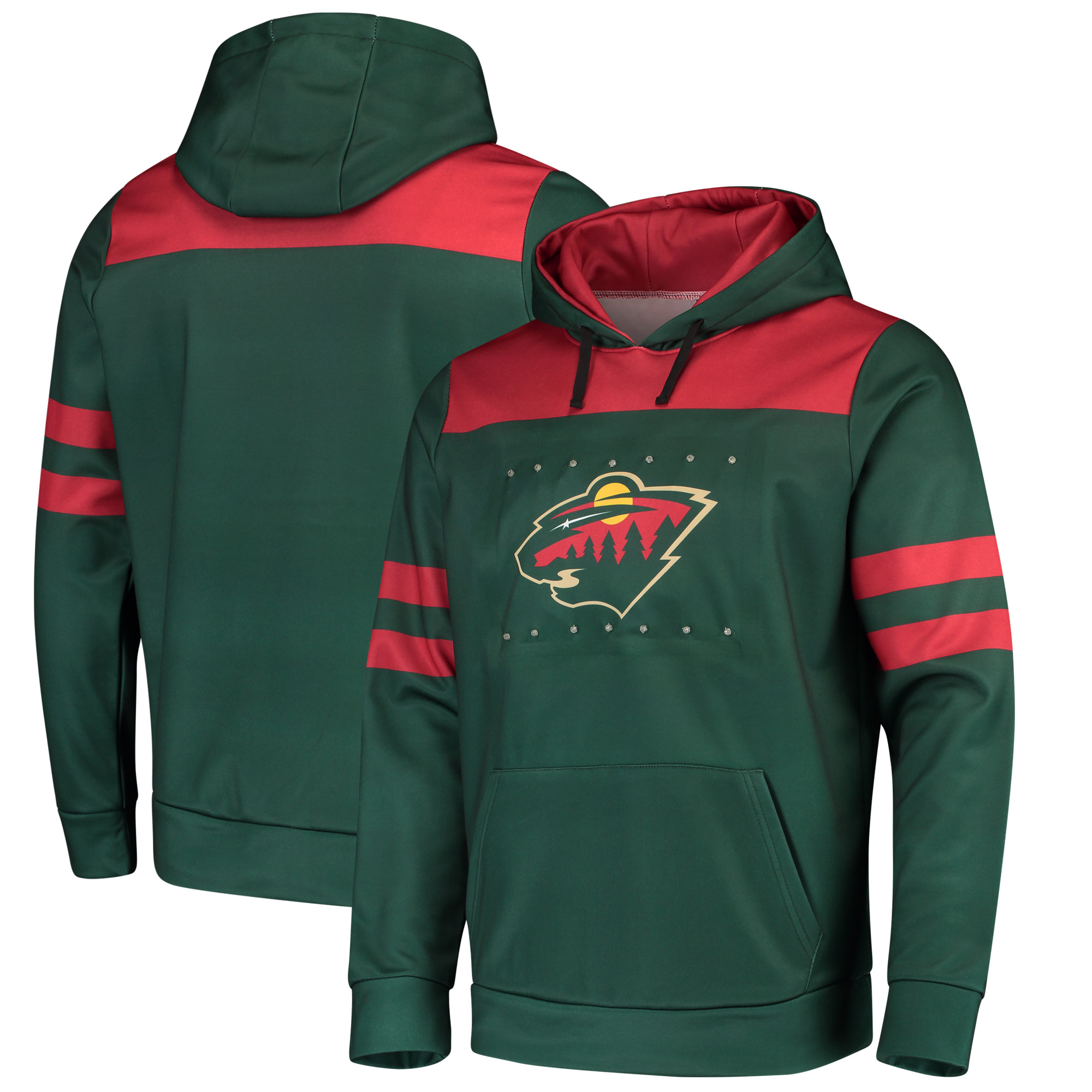 Minnesota Wild Light Up Pullover Hoodie - Green