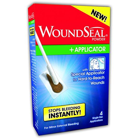 WoundSeal Powder and Applicator single use applications 4 Count Each