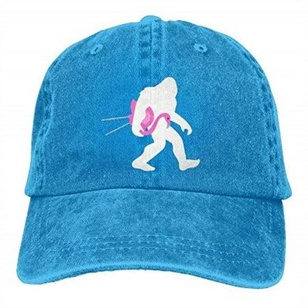 Bigfoot Lawn Flamingo Plain Baseball Cap Washed Dad Hat Outdoor Caps ... 7e2a06b0783