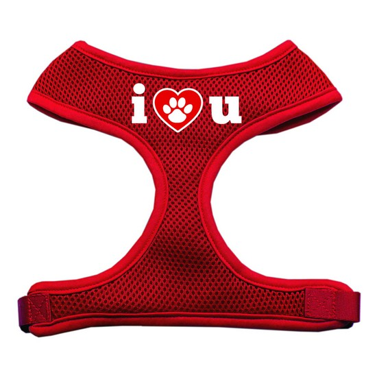 Mirage 70-30 XLRD I Love U Soft Mesh Dog Harness Red Extra Large