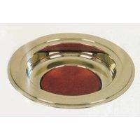 brass tone offering plates (burgundy felt pad)