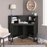 Deals on Mainstays Corner Desk with Hutch