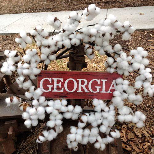 August Grove Georgia Faux Cotton 22'' Wreath