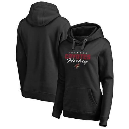 Phoenix Coyotes Sweatshirt - Arizona Coyotes Fanatics Branded Women's Iconic Collection Script Assist Pullover Hoodie - Black