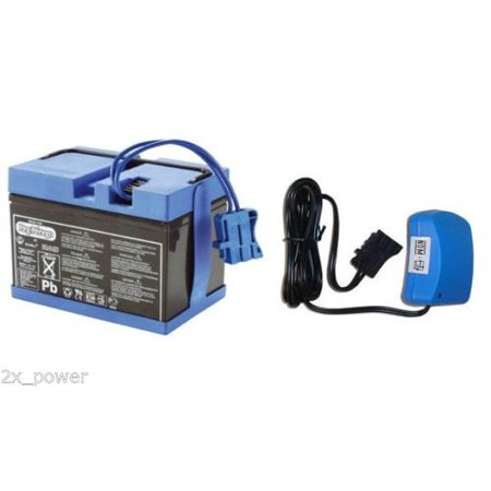 Battery Charger Combo Kit (Peg Perego 12 Volt Blue Battery and Charger Combo Set - IAKB0501)