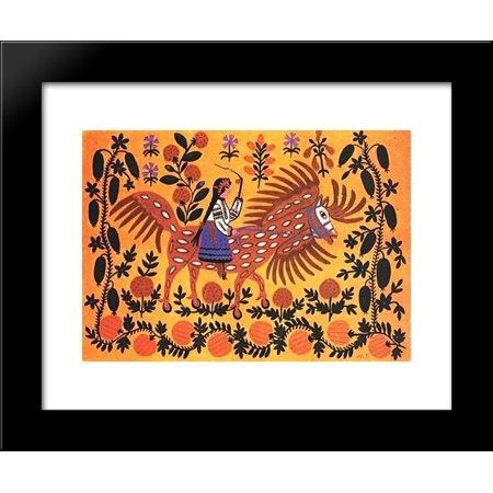 Autumn is riding on a horseback 20x24 Framed Art Print by Primachenko, Maria