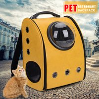 Portable Outdoor Pet Carrier Space Astronaut Backpack Pet Mobile Bed Breathable Waterproof Handbag for Cats Dogs & Other Small Animals