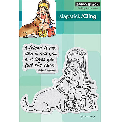 "Penny Black Cling Rubber Stamp, 5"" x 7.5"" Sheet, A Friend Is"