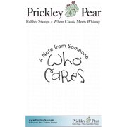 "Prickley Pear Cling Stamps 1.25""X1.75""-Who Cares"