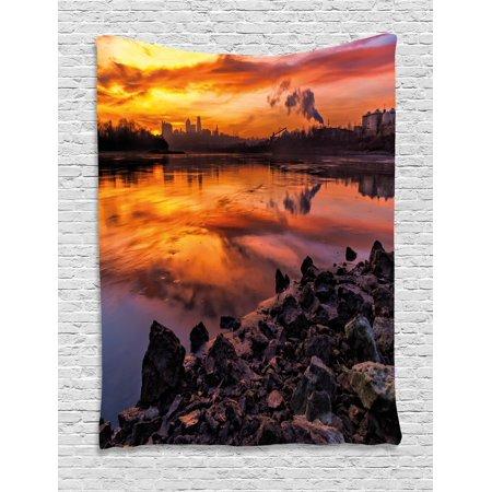 Landscape Tapestry Usa Missouri Kansas City Scenery Of A Sunset