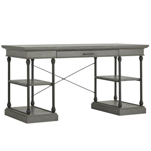 Lubeck Worn Grey Writing Desk by