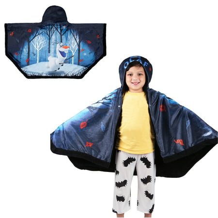 "Disney's Frozen 2 Olaf Snuggle Wrap Hoodie Blanket, 55"" x 31"", Super Soft and Cozy"