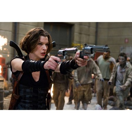 Resident Evil: Afterlife Milla Jovovich in action with guns 24x36