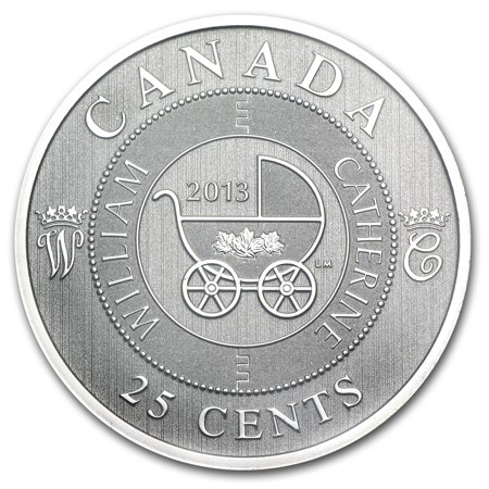 0.25 Ounce Panda Coin - 2013 Canada $0.25 Royal Infant Carriage