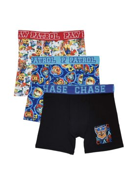 Paw Patrol Boys Athletic Boxer Briefs, 3 Pack