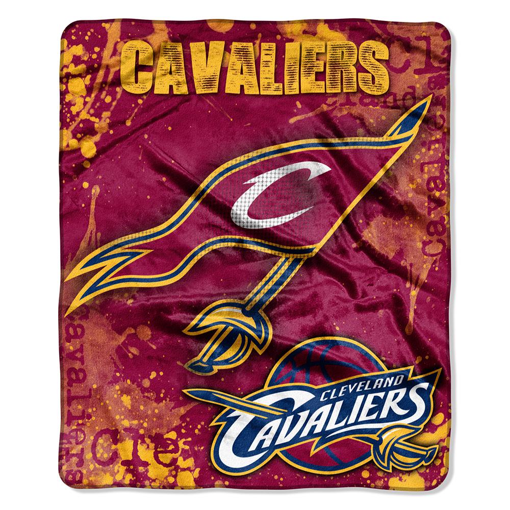 "Cleveland Cavaliers 50""x60"" Royal Plush Raschel Throw Blanket - Drop Down Design"